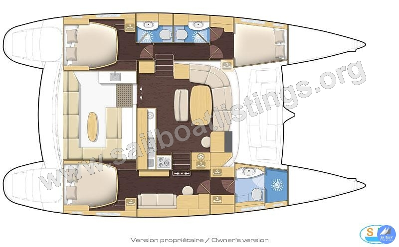 Lagoon 440 Owner Version Year = 2010 Length = 13.61 m